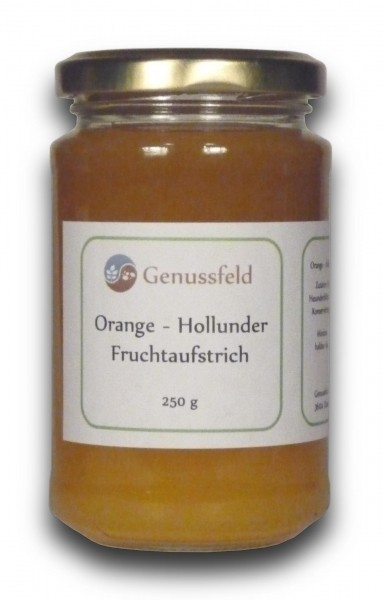 Orange Holunder Fruchtaufstrich